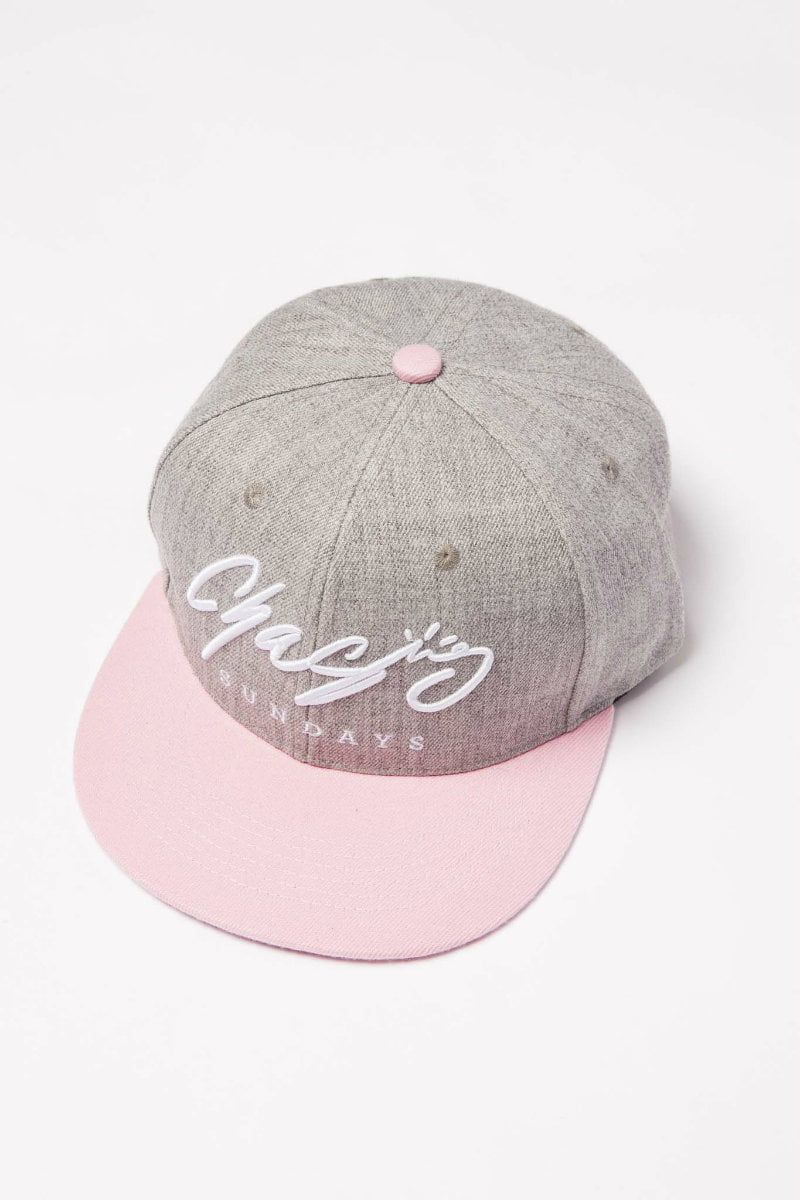 Grey and Pink Hat. Adult and Kids Sizes - Chasing Sundays 90b753d1380